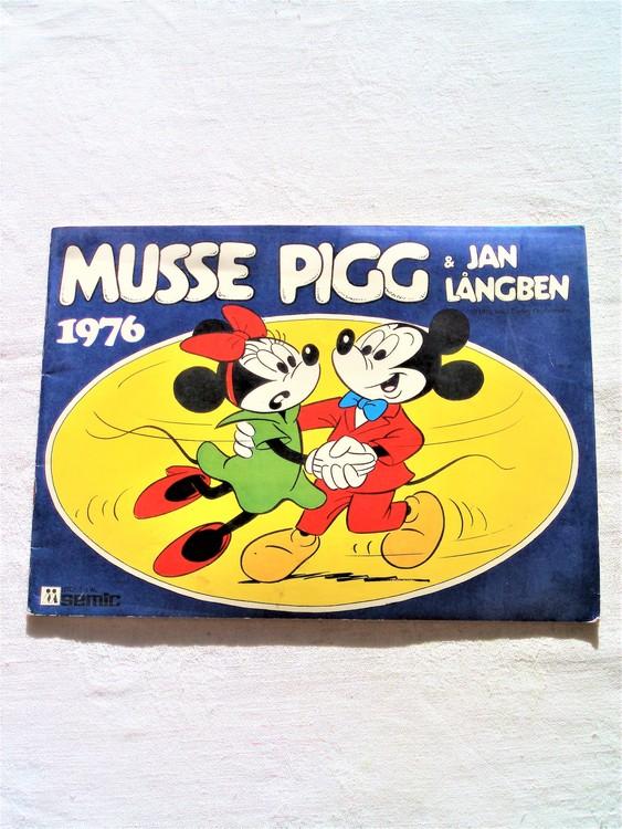 Musse Pigg & Jan Långben 1976 mycket bra skick, nyskick oläst semic