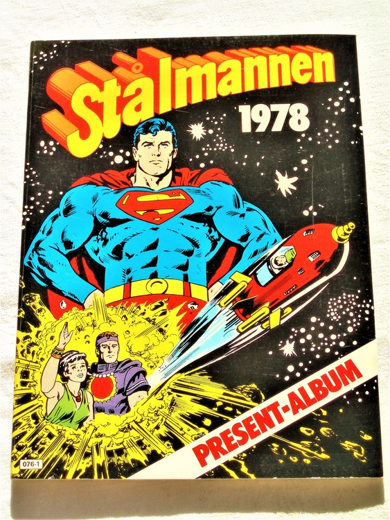 Stålmannen 1978 Present-Album mycket bra skick nyskick oläst