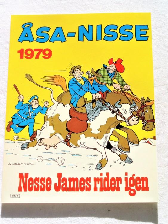 Åsa-Nisse årsalbum 1979 mycket bra skick  nyskick oläst
