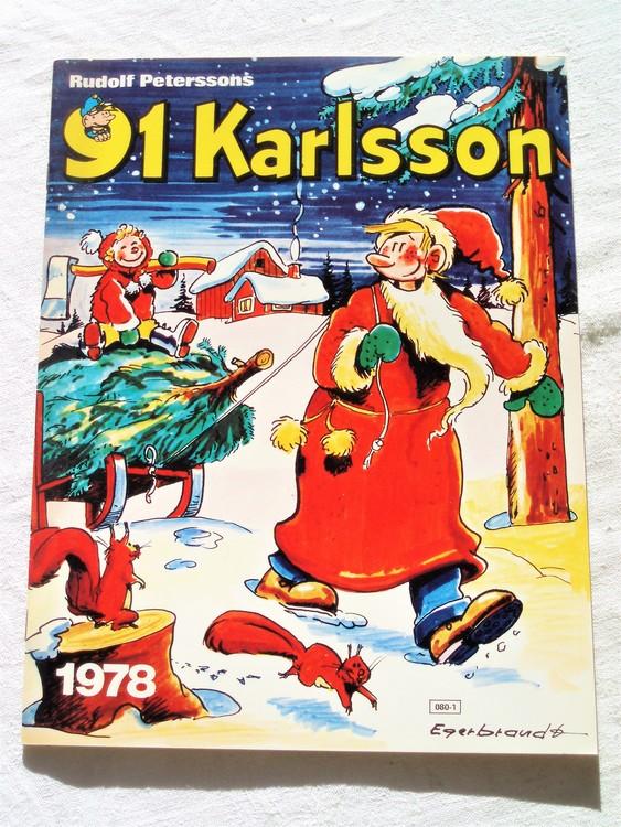 91:an Karlsson 1978, häftad,färg,mycket bra skick nyskick,semic press