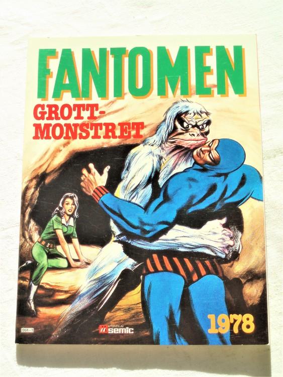 Fantomen Grottmonstret 1978  semic mycket bra skick nyskick