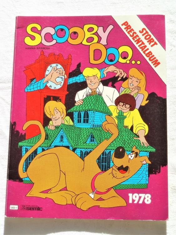 Scooby Doo stort presentalbum 1978 mycket bra skick nyskick