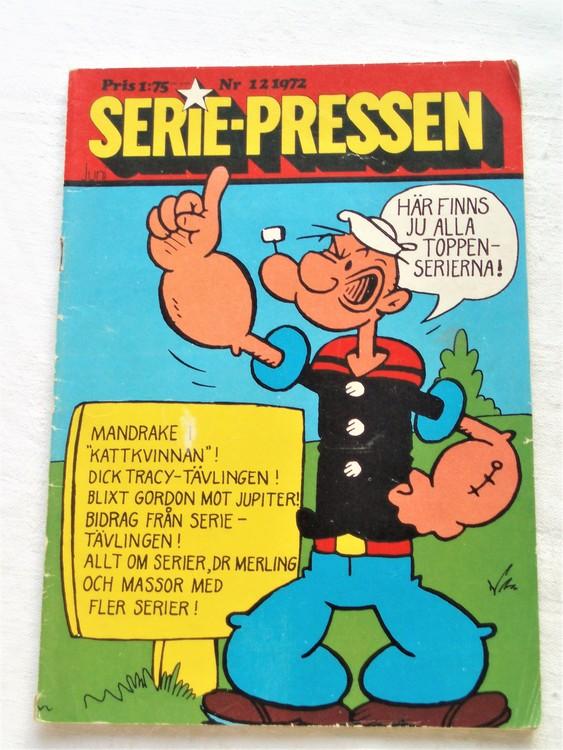 Serie-Pressen nr 12 1972 normalslitet, normalskick