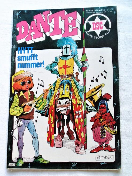 Dante nr 6 1976  normalsliten,normalskick