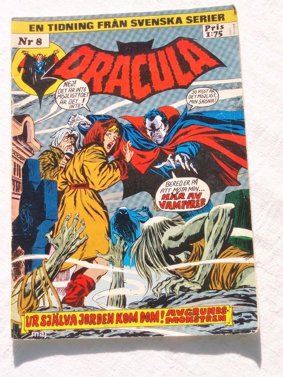 Dracula nr 4 1982 färg sämre skick,lite mer sliten än normalt