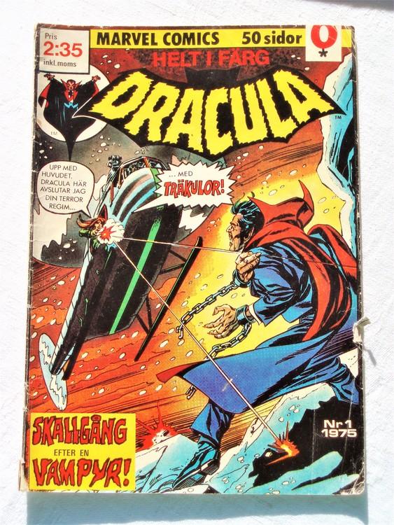 Dracula nr 1 1975 färg sämre skick,lite mer sliten än normalt