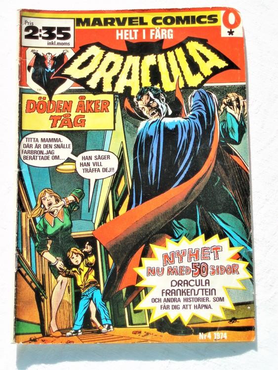 Dracula nr 4 1974 färg bättre skick