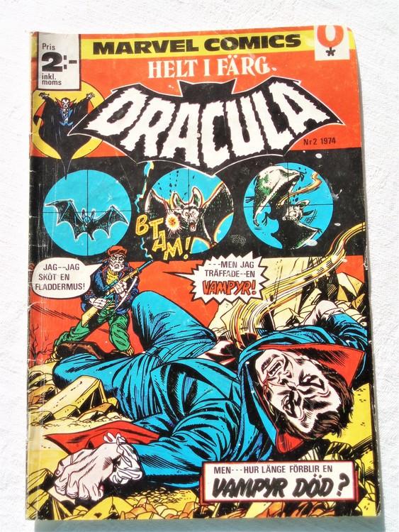 Dracula nr 2 1974 färg bättre skick