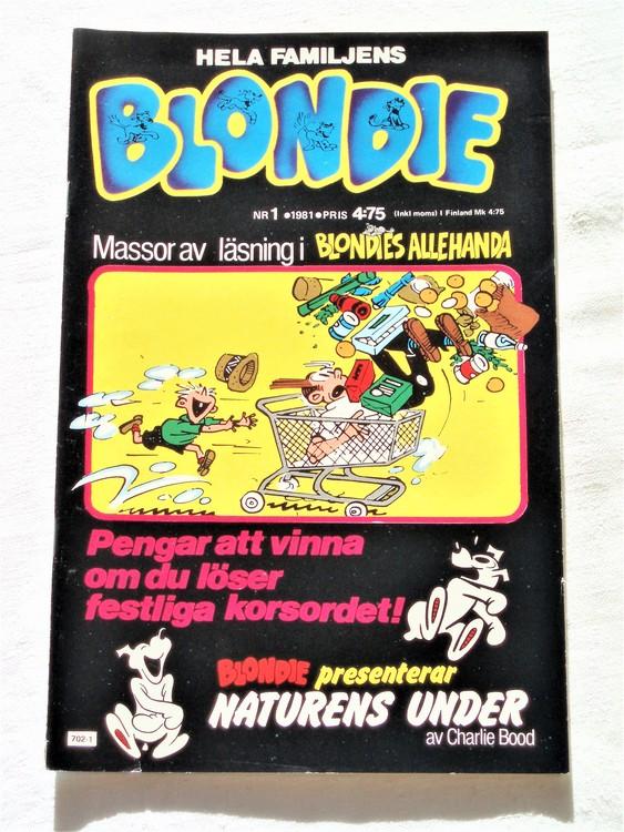 Blondie nr 1 1981 mycket bra skick