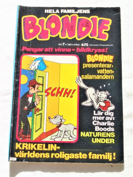 Blondie nr 7 1981 mycket bra skick