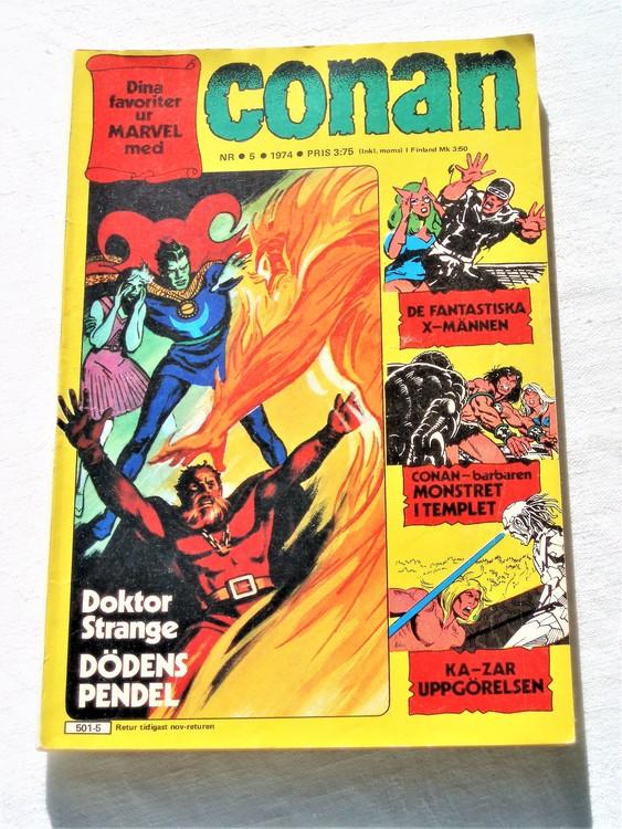 """Conan""""Doktor Strange"""" nr 5 1974 bättre skick"""