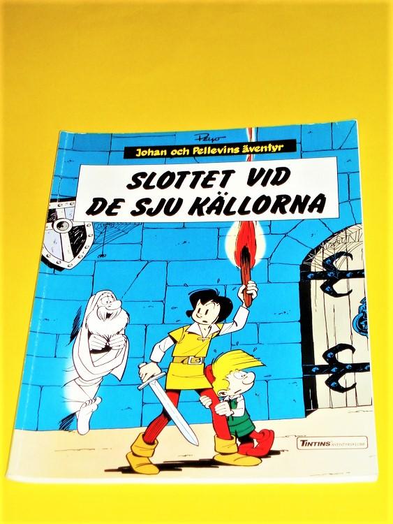 """Johan och Pellevins Äventyr""""Slottet vid de sju källorna""""1989 normalslitet"""