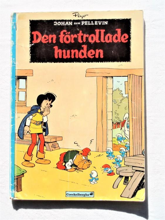 """Johan och Pellevin""""Den Förtrollade Hunden""""1:a upplagan 1975,sämre skick"""