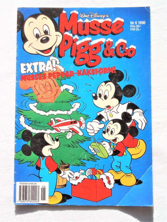 Musse Pigg& c:o nr 6 1998 Walt Disney´s mycket bra skick