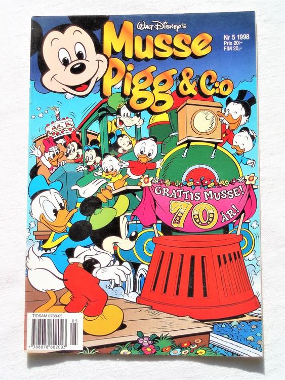Musse Pigg& c:o nr 5 1998 Walt Disney´s mycket bra skick