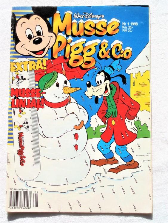 Musse Pigg& C:o nr 1 1998 Walt Disney´s mycket bra skick