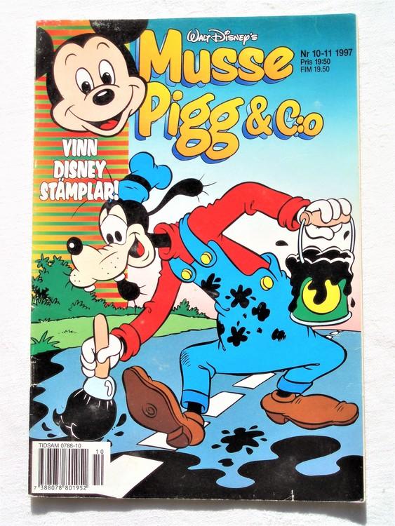 Musse Pigg& C:o nr 10-11 1997 Walt Disney´s mycket bra skick