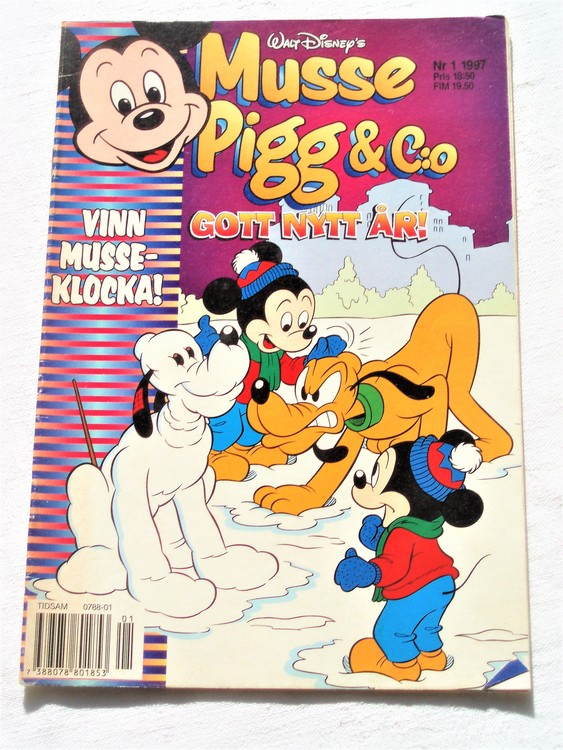 Musse Pigg& C:o nr 1 1997 Walt Disney´s mycket bra skick