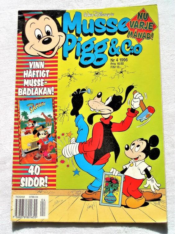 Musse Pigg& C:o nr 4 1996 Walt Disney´s mycket bra skick