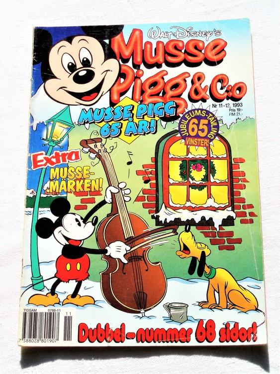 Musse Pigg& C:o nr 11-12 1993 dubbelnummer Walt Disney´s mycket bra skick.