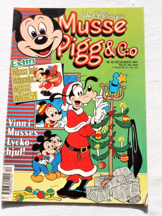 Musse Pigg& C:o nr 12 1991 Walt Disney´s mycket bra skick.