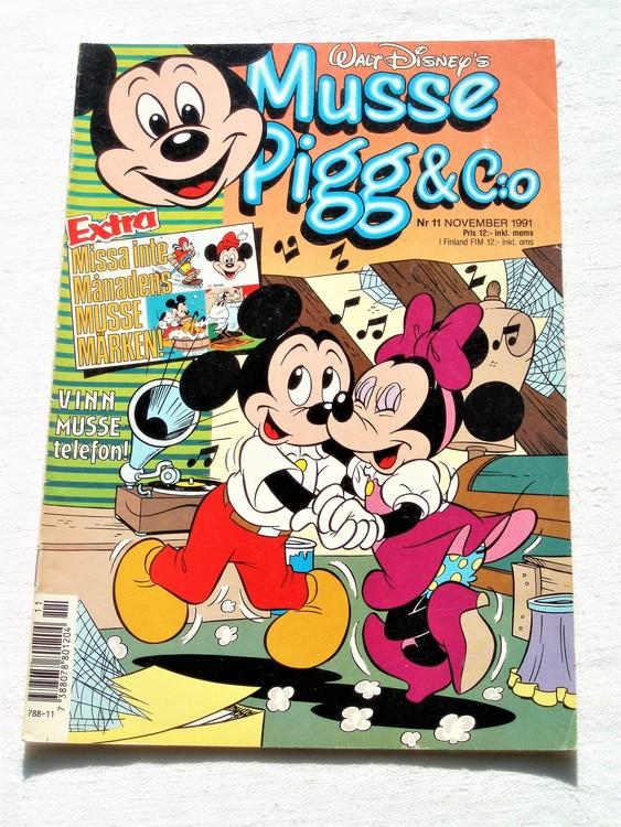 Musse Pigg& C:o nr 11 1991 Walt Disney´s mycket bra skick.