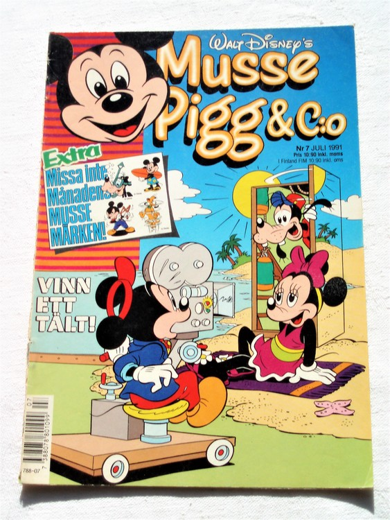 Musse Pigg& C:o nr 7 1991 Walt Disney´s mycket bra skick.