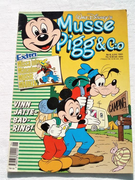 Musse Pigg& C:o nr 6 1991 Walt Disney´s mycket bra skick.