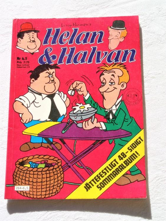 Helan och Halvan& Co nr 6,5 1981 64 sidor färg mycket bra skick