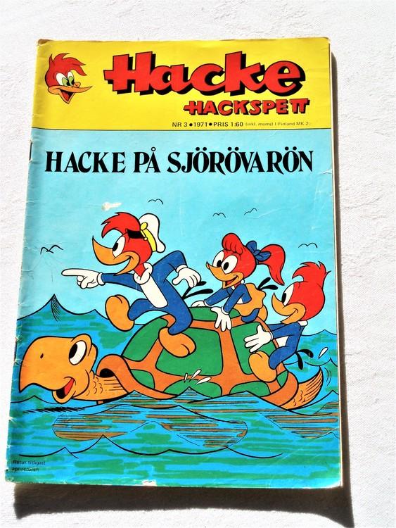 Hacke Hackspett nr 3 1971 Sämre skick