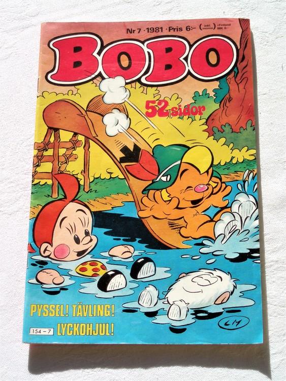 Bobo nr 7 1981 mycket bra skick.