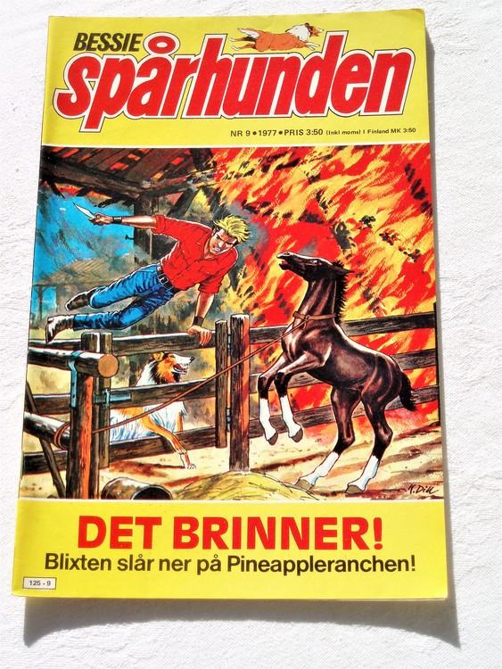 Bessie Spårhunden nr 9 1977 mycket bra skick.