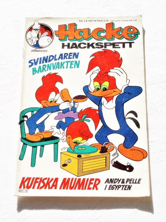 Hacke Hackspett nr 3 1977 bättre skick.