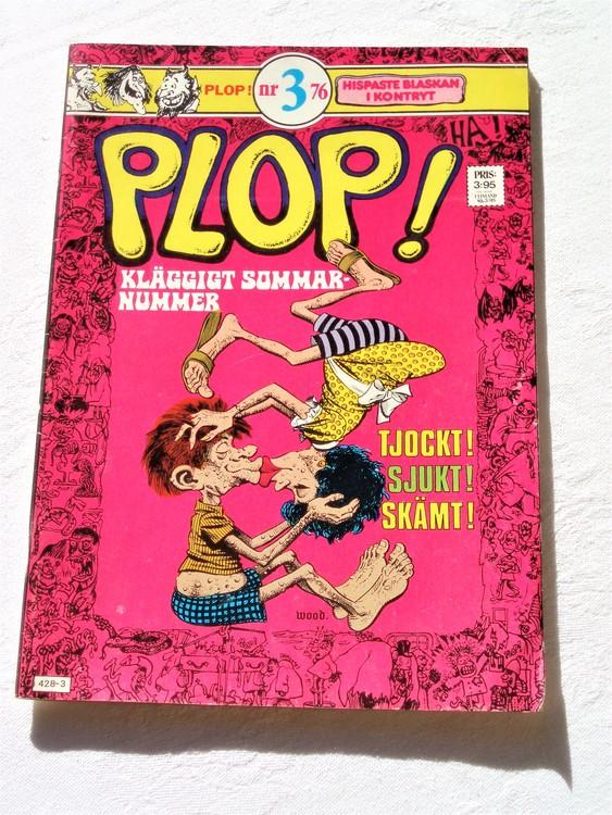 """Plop! """"Kläggigt Sommar nummer""""nr 3 1976 bättre skick"""