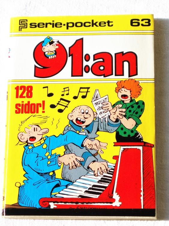 91:an Seriepocket nr 63 1977 semic 128 sidor mycket bra skick nyskick.