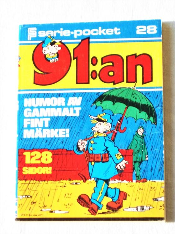 91:an Seriepocket nr 28 1975 semic 128 sidor mycket bra skick nyskick.