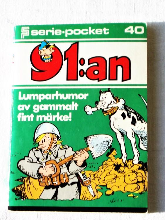 91:an Seriepocket nr 40 1976 semic mycket bra skick nyskick.