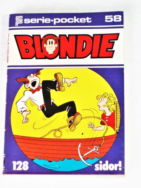 Blondie Seriepocket nr 58 semic 128 sidor mycket bra skick nyskick.