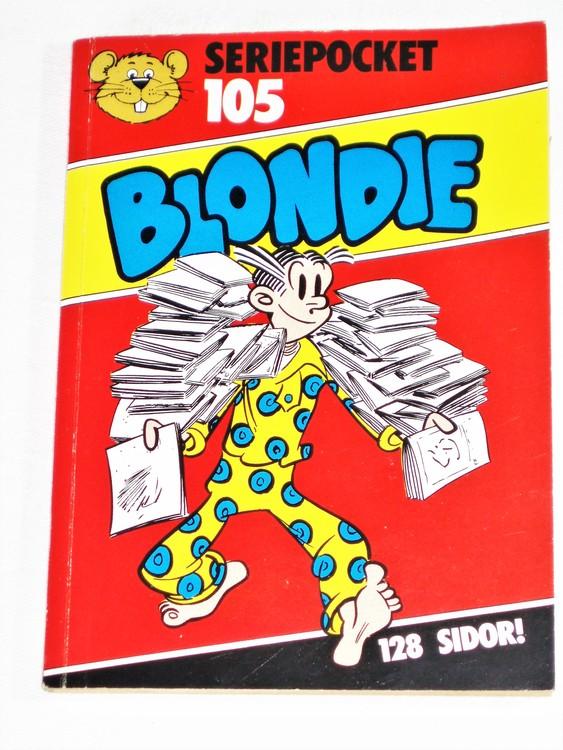 Blondie Seriepocket nr 105 semic mycket bra skick nyskick.