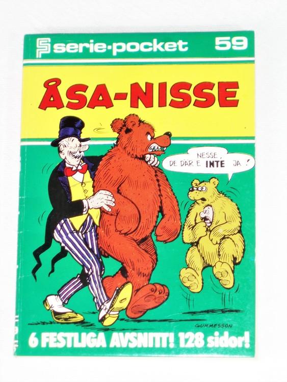 Åsa-Nisse Seriepocket nr 59 semic mycket bra skick nyskick.