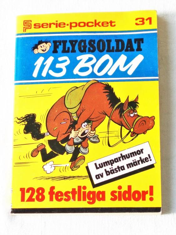 Flygsoldat 113 Bom Seriepocket nr 31 semic mycket bra skick nyskick.