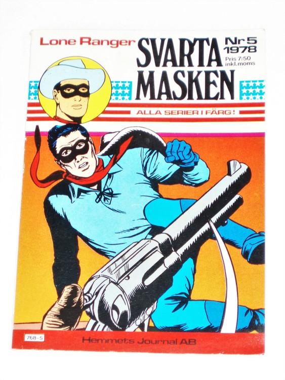 "Svarta Masken ""Lone Ranger"" nr 5 1978  Serie-pocket  mycket bra skick nyskick."
