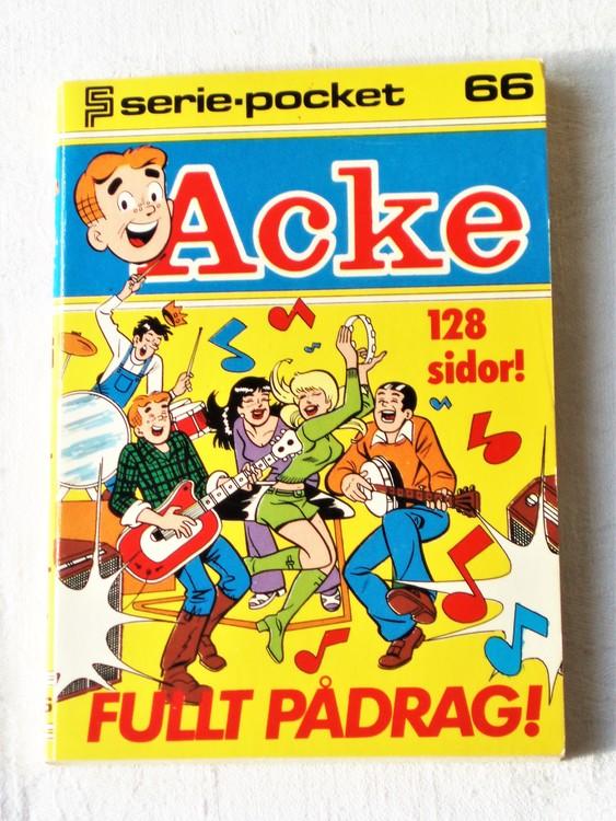 Acke nr 66 Serie-pocket  mycket bra skick nyskick