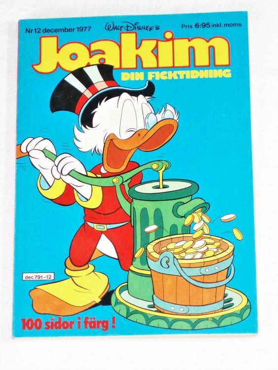 Joakim nr 12 december 1977 Serie-pocket  mycket bra skick nyskick oläst