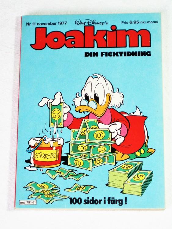 Joakim nr 11 november 1977 Serie-pocket  mycket bra skick nyskick oläst.