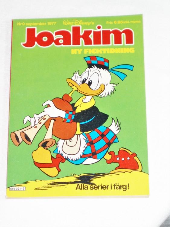 Joakim nr 9 september 1977 Serie-pocket  mycket bra skick nyskick oläst.