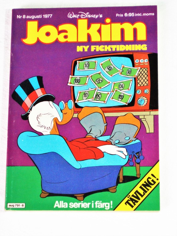 Joakim nr 8 augusti 1977 Serie-pocket  mycket bra skick nyskick oläst