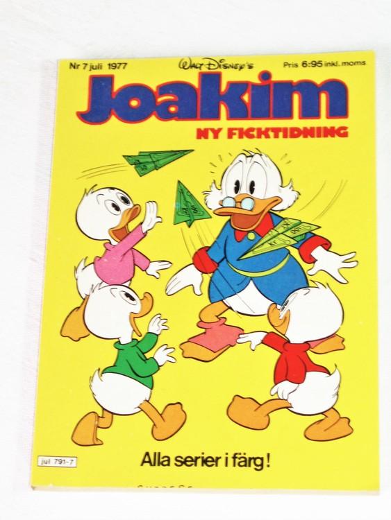 Joakim nr 7 Juli 1977 Serie-pocket  mycket bra skick nyskick oläst