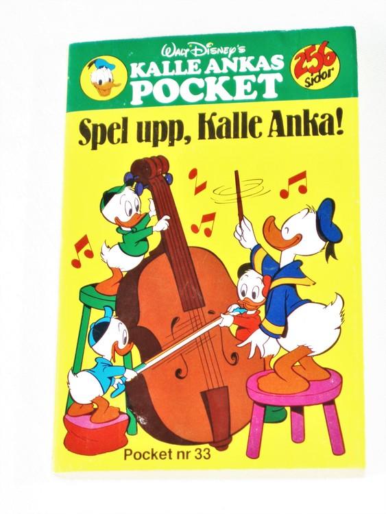 Kalle Ankas Pocket nr 33 1980 Serie-pocket 256 sidor mycket bra skick nyskick oläst