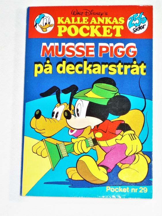 Kalle Ankas Pocket nr 29 1979 Serie-pocket 256 sidor mycket bra skick nyskick oläst